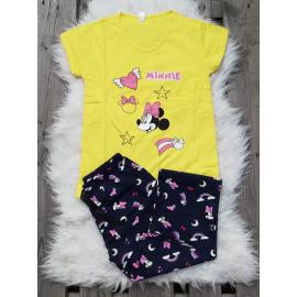Pijama dama Minnie Happy galben