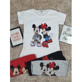 Tricou  dama Minnie si Mickey