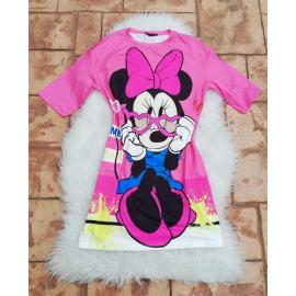Rochie scurta cu desene Minnie Mouse Pink