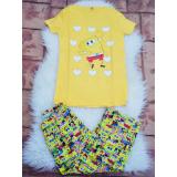 Pijama dama Sponge galben
