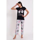 Pijama dama Oite negru