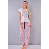 Pijama dama Coffee Lover Alb