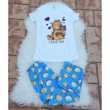 Pijama dama Garfield Heart alb