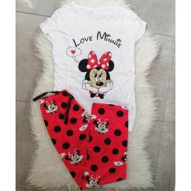 Pijama dama Love Minnie alb