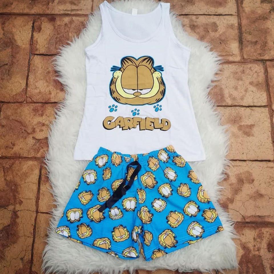 Pijama scurta Garfield albastru