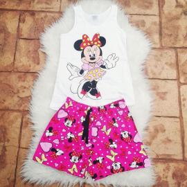 Pijama scurta Minnie Dress ciclam