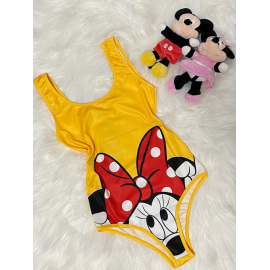 Body dama Minnie Mouse galben