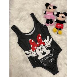 Body dama Minnie Mouse Negru