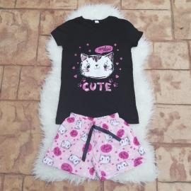 Pijama scurta Good Night negru