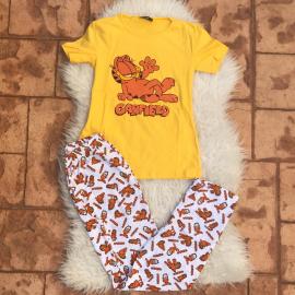 Pijama dama Sleepy Garfield Galben