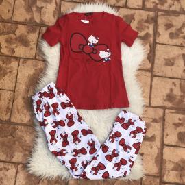 Pijama dama Sleepy Garfield Rosu