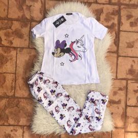 Pijama dama Minnie Unicorn Alb