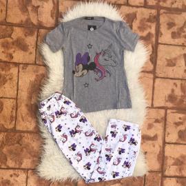 Pijama dama Minnie Unicorn Gri