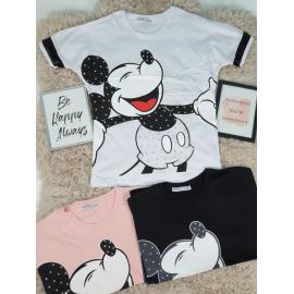 Tricou  dama  Mickey Happy