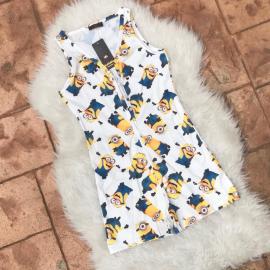 Pijama scurta tip salopeta Minions