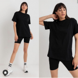 Set tricou si colanti Lory negru