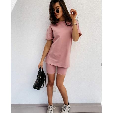 Set tricou si colanti Lory roz