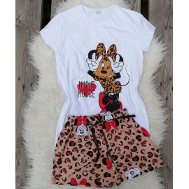 Pijama scurta Super Minnie Alb