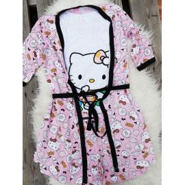 Pijamale 3 piese Hello Kitty