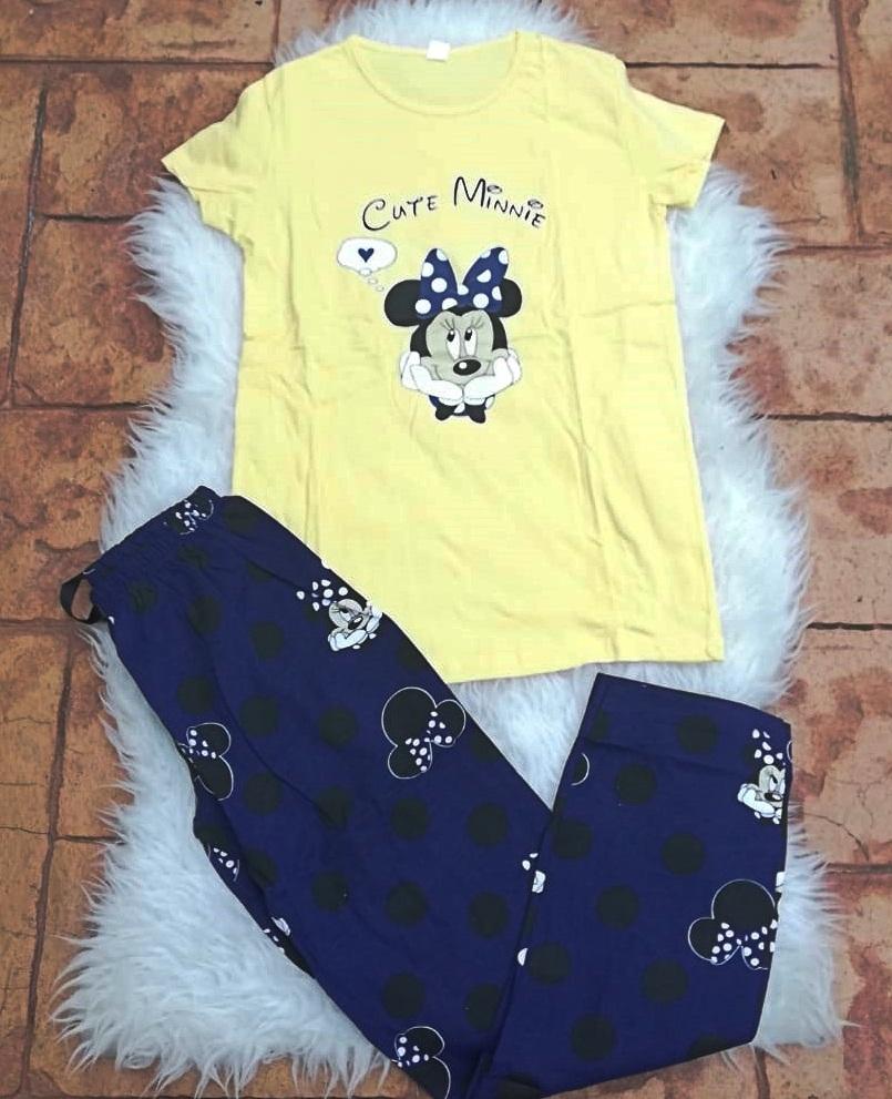 Pijama dama Minnie Dream Galben