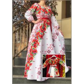 Set rochii Mama-Fiica cu motive traditionale Rosu