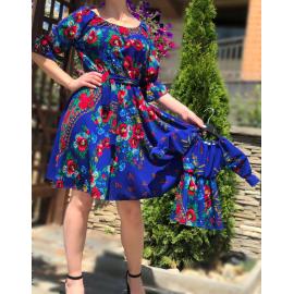 Set rochii Mama-Fiica cu imprimeu gipsy rosa