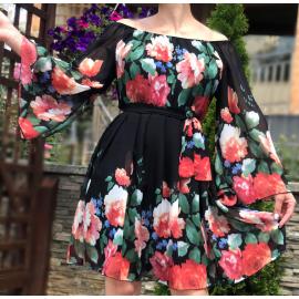 Rochie clos din voal Florance negru
