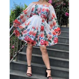 Rochie clos din voal Florance alb