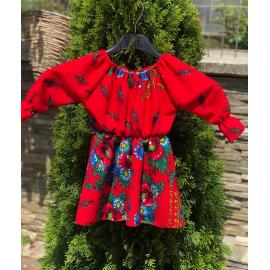 Set rochii Mama-Fiica cu imprimeu Gipsy Rosa rosu