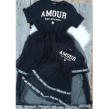 Set rochie mama-fiica cu tull Amour