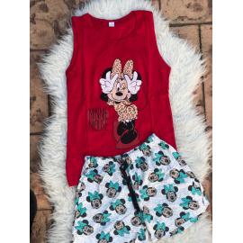 Pijama scurta Cool Minnie rosu