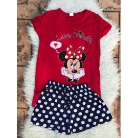 Pijama scurta Love Minnie rosu