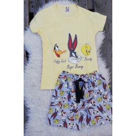 Pijama scurta Tweety Bunny galben