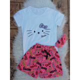 Pijama scurta Barbie & Hello Kitty