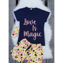 Pijama scurta Magic negru