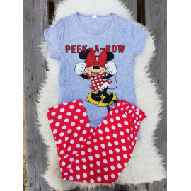 Pijama dama Peek a Bow Gri