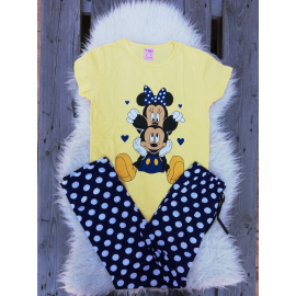 Pijama dama Mickey Club galben