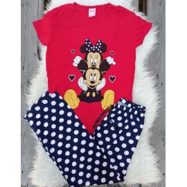 Pijama dama Mickey Club rosu