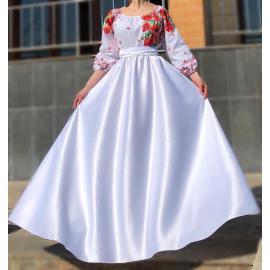 Rochie lunga cu motive traditionale Loret