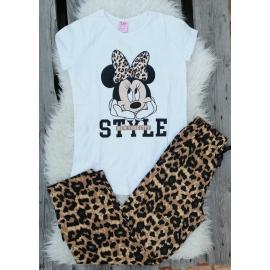 Pijama dama Minnie Style alb