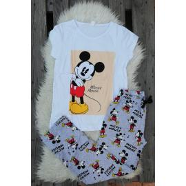 Pijama dama Disney Mickey alb