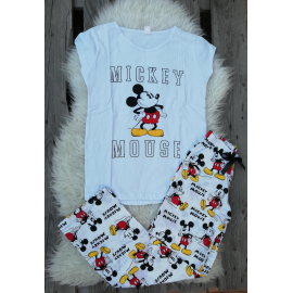 Pijama dama Home Mickey alb