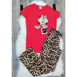 Pijama dama Leopard Cool Minnie rosu