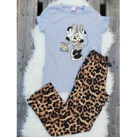 Pijama dama Leopard Cool Minnie gri