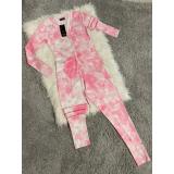 Pijama dama tip salopeta Colorful Pink