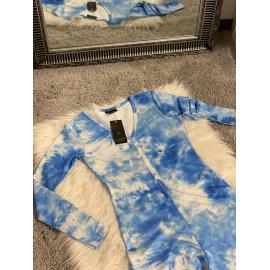 Pijama dama tip salopeta Colorful Blue