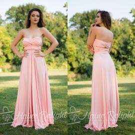 Rochie lunga versatila Roz pal