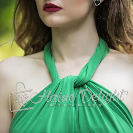 Rochie lunga versatila Verde