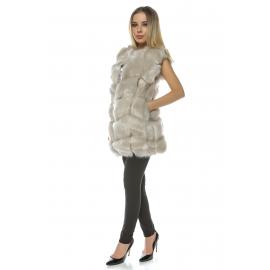 Vesta lunga de blana Frozen cream