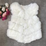 Vesta de blana scurta Elsa alb